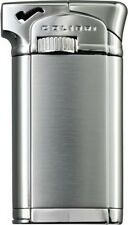 "COLIBRI CONNAUGHT II 2 ""CHROME/ SATIN"" ANGLED FLAME PIPE LIGHTER * NEW in BOX *"