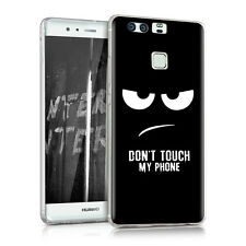kwmobile Tpu Silikon Case Huawei P9 Don'T Touch My Phone Imd Design Hülle Cover