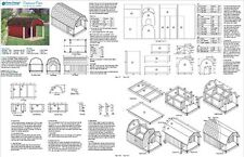 "36"" x 60"" Porch Barn Roof Style Dog House Plans, 90305B  Pet Size up to 150 lbs"