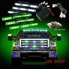 54 LED Car Truck Strobe Emergency Warning Light for Deck Dash Grill White Green