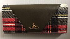 Vivienne Westwood Olive Tartan Leather Purse Bag Clutch Handbag