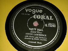STEVE LAWRENCE :  PARTY DOLL  /  PUM-PA-LUM (THE BAD DONKEY)   UK 78rpm (1957)