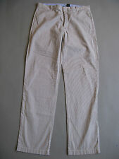NEW  J CREW LIGHTWEIGHT ESSEX WHITE CHINO PANTS SIZE 33 X 32 REGULAR FIT