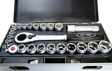 "US PRO 25pc ir a través de Trinquete Socket Set Go a través de 4mm - 19mm y 1/4"" Adaptador 1003"