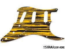 *NEW Tiger Stripe Stratocaster PICKGUARD for Fender Strat 3 Ply Guitar Standard
