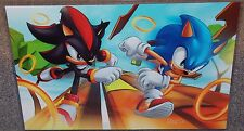 Sonic The Hedgehog vs Shadow Glossy Print In Hard Plastic Sleeve