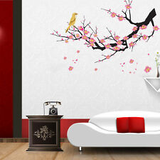 Wall Stickers Flowers Pink Branch for Living Room Bird 5700016