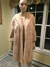 Size Small 2 4 White Pearl Cream Blush Mink Real Fur Jacket 3/4 Coat USA Skins