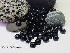 "Handmade Lampwork Beads, ""Black"". SRA, UK"
