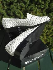 IPANEMA Shoes BUTTERFLY ATANADO WHITE Woven LEATHER Ladies Size 7.5M (run small)