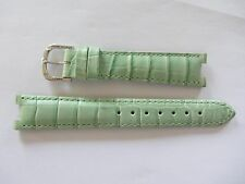 Original Pierre Balmain Light Green Leather Watch Strap 18mm