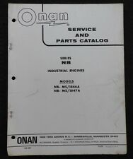 GENUINE ONAN NB MS/1876A MS/1847A ENGINE SERVICE REPAIR & PARTS CATALOG MANUAL