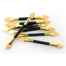 12 Double-ended Disposable EyeShadow sponge Applicators Brushes Makeup Tool JM