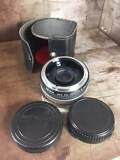 GEMINI CANON FD FILM CAMERA Auto TELECONVERTER 2X for FD LENS & Case Photo Gear