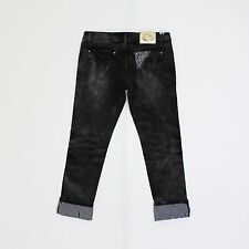 NEW 212 Womens Size 32w Crop Leg 26L Black Slim Black Jeans