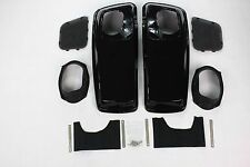 6x9 Vivid Black Speaker Lids for 2014 2015 Harley Touring Models FLH FLT