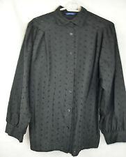 80er 70er Vintage Bluse Hemdbluse Gr 40 Miss Euromod Baumwollmischung Stickerei