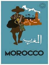"""North Africa Travel Art Poster Morocco Print 11x14"""" Rare Hot New XR95"""