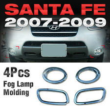 Chrome Fog Lamp Cover Garnish Molding Kit 4pcs For HYUNDAI 2006-2009 Santa Fe CM