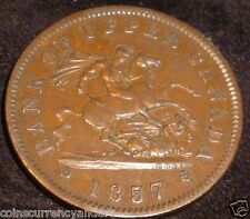 1857 BANK OF UPPER CANADA, Token PC6D BRETON # 719