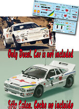 Decal 1:43 Franco Cunico - LANCIA RALLY 037 - Rally El Corte Ingles 1986