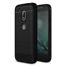 Carbon Fibre Cover Case Skin Shockproof Soft Non Slip For Motorola Moto G4 Play