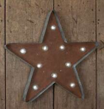New Vintage Style Lighted Star Marquee Wall Sign Plaque Sculpture Country Shabby