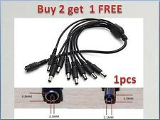 CCTV Security Camera 2.1mm 1 to 8 Port Power Splitter Cable Pigtails 12V DC