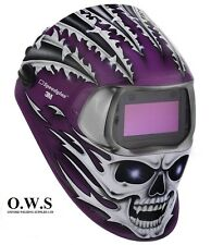 "3M Speedglas 100V Series Welding Helmet ""Raging Skull"" Variable Shade 3 / 8-12"