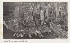 Post Card - Aerial View of Lower New York City