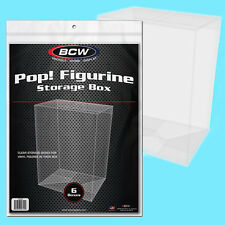 6 BCW Funko POP! Figurine STORAGE BOX New Display Clear Plastic Figure Case