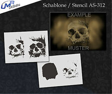 Step by Step Airbrush Stencil AS-312 M ~ Template ~ UMR-Design