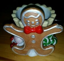 Party Lite Gingerbread Man Holiday Votive Ceramic Candle Holder #P7902