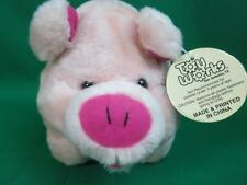 NEW TOY WORKS PIGGY BANK SHAPED PINK PIG FUNNY STANDING UP PLUSh STUFFED ANIMAL