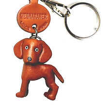 Weimaraner Handmade 3D Leather Keychain *VANCA* Keyring Made in Japan #56789