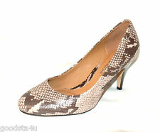 """Clarks Ladies """"Clifton Bridge"""" Natural Snake Leather Shoes size 4D.New"""
