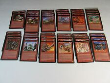 Lot of 45 Red Magic the Gathering Rare Cards Tempest 1997 WotC MTG NM/SP