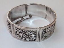 ANTIQUE VINTAGE SILVER CHINESE BRACELET WITH CHINESE SILVER MARK