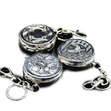 Round Mini Stainless Steel Pocket Cigerrtte Ashtray with Key Chain(Random)