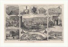 Bilder vom Kaukasus Belo Klutsch Kram Tuschiner Tiflis Zino Holzstich C 1891