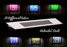 Customized Solar 4 LED Illuminated Light House Street Address Numbers Plaque