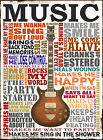 VINTAGE MUSIC POSTER PRINT WALL ART SIZE A1 / A2 / A3 / A4 fast post guitar