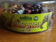 Tub of 48 Plastic Toy Safari Animals - Great for Party Bags - Brand New