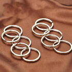 "WHOLESALE LOT 10 25 50 100 NEW KEY RINGS 24mm 1"" DIAMETER SPLIT RINGS SILVER W"