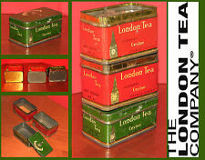 3 Scatole latta-Cajas de lata-Old Tin boxes-English LONDON TEA The Inglese 50s