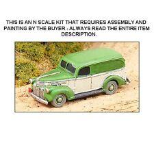 N SCALE:1941 CHEVROLET PANEL TRUCK KIT - GHQ KIT #57016