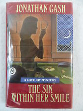 Jonathan Gash THE SIN WITHIN HER SMILE A Lovejoy Mystery SIGNED Viking Press