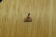 10K YELLOW GOLD BLACK HILLS GOLD LEAVES & ROSE FLOWER PENDANT CHARM #X10-1151