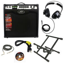 "Peavey Vypyr Vip3 Combo 12"" Modeling Guitar 100W Amp W/ Stand Headphones Cable"