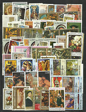 PAINTINGS Collection Packet of 100 Different Stamps of World Used